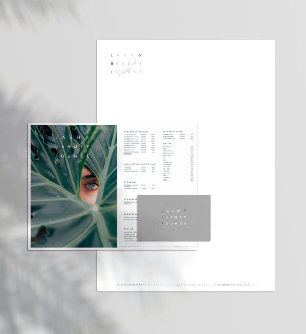 branding design for beauty lounge