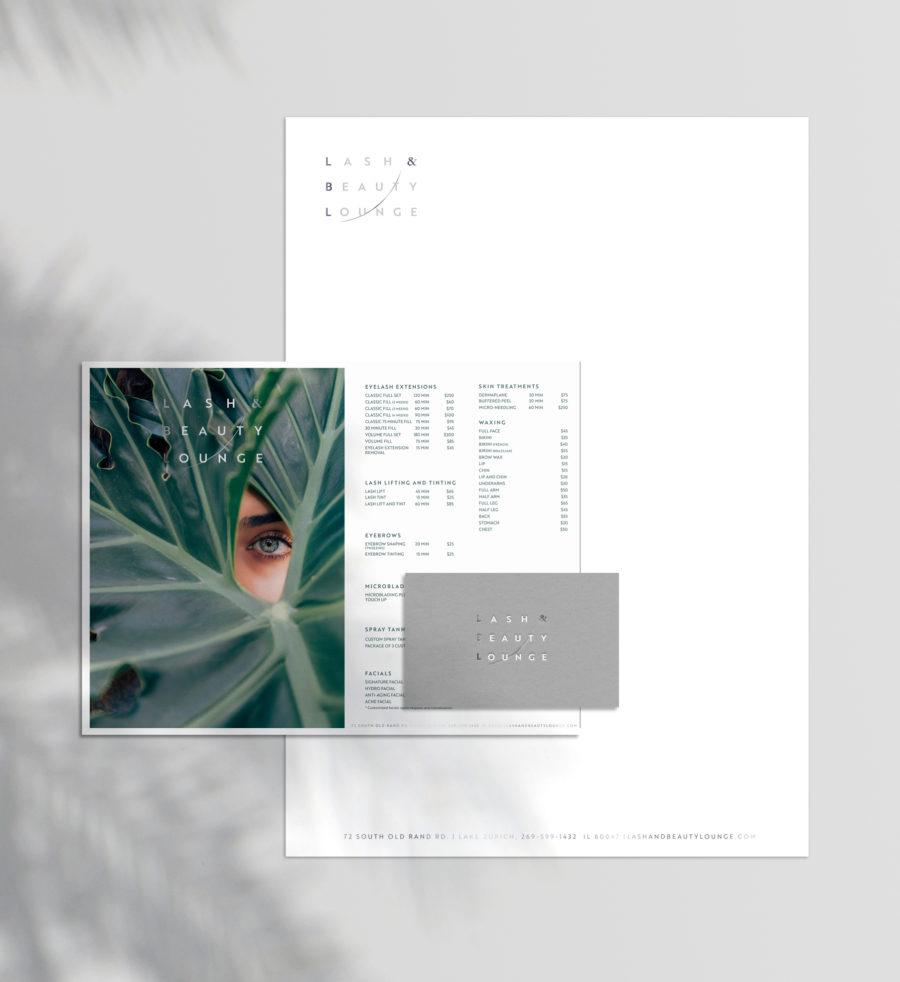 branding design for beauty lounge