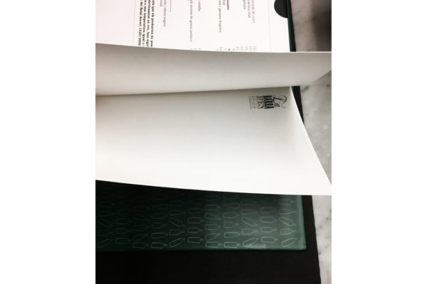 Design of the menu for La Barra d'en Regue in Olot