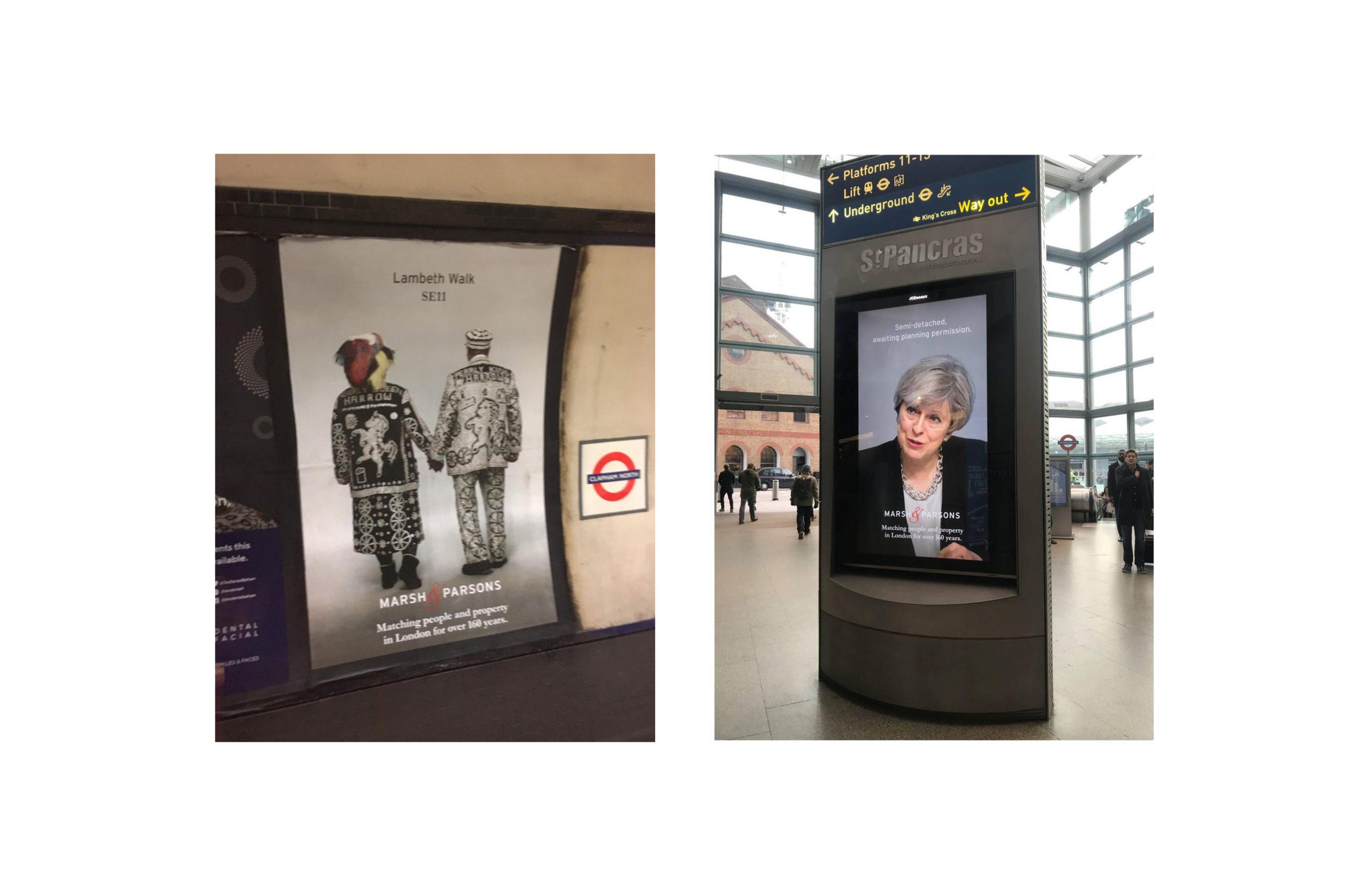 Marsh & Parsons underground ads
