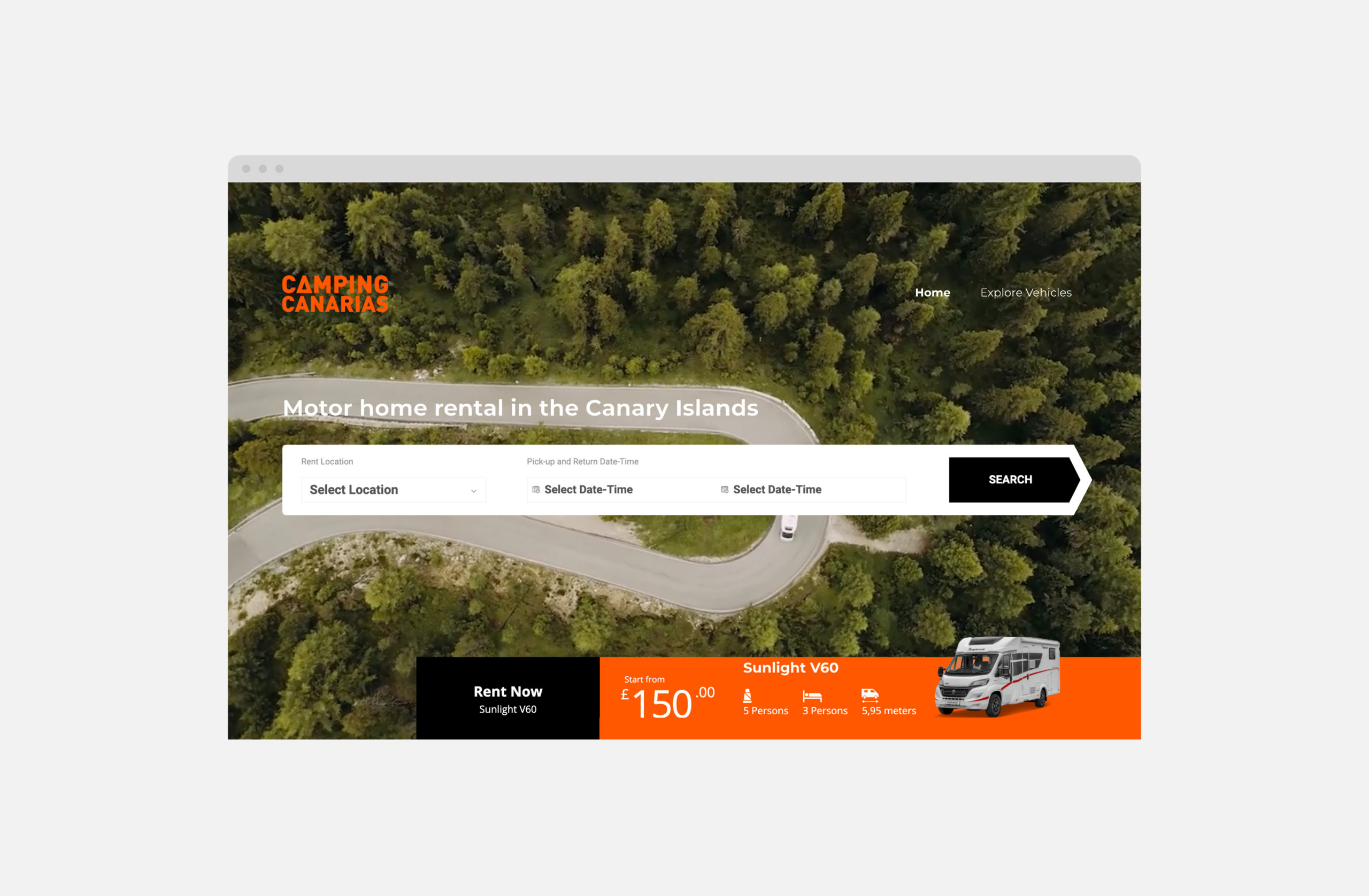 Camping canarias homepage