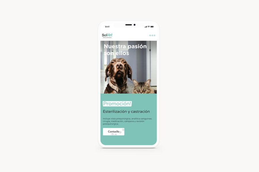 Solvet homepage in iphone